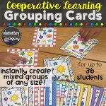cooperative learning grouping cards product from Elementary Inquiry