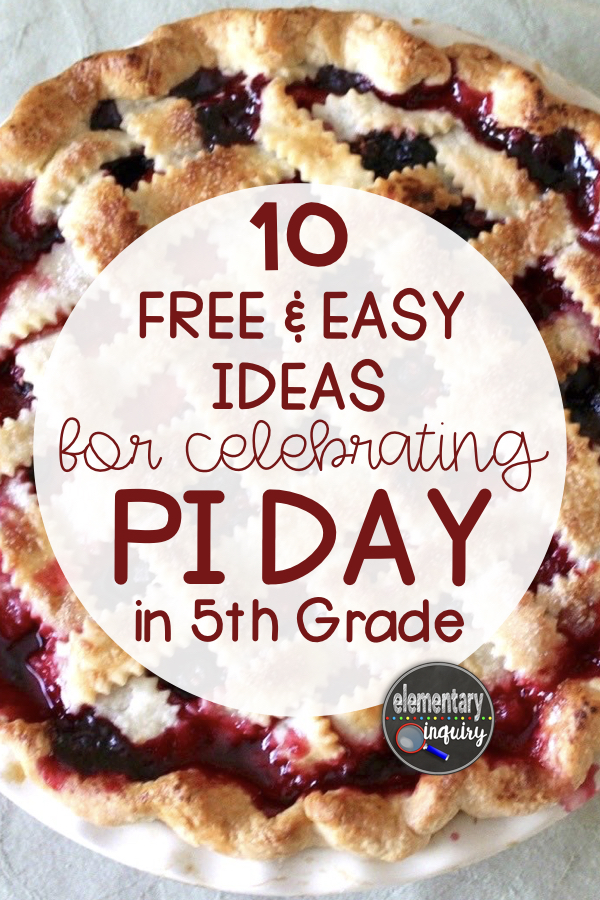 Free Pi Day Activities for the 5th Grade Classroom