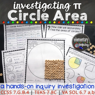 Inquiry lesson for investigating circle area