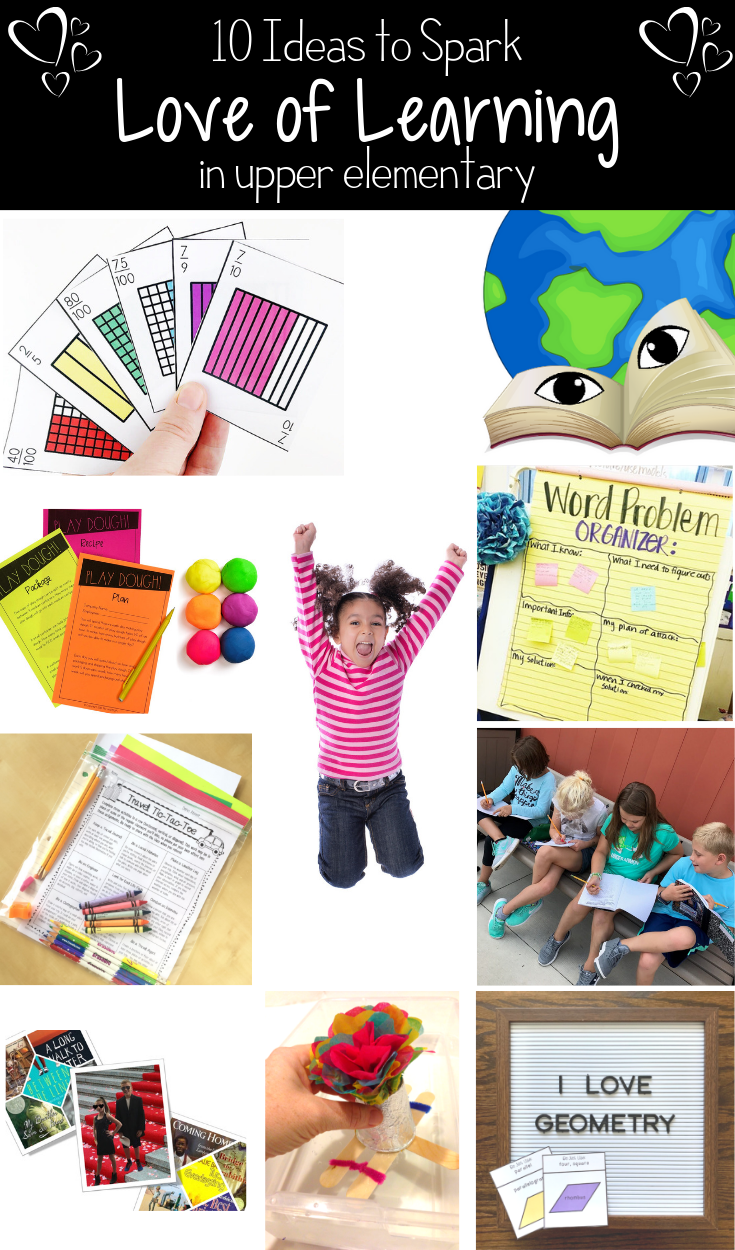 blog posts to inspire a love of learning in upper elementary