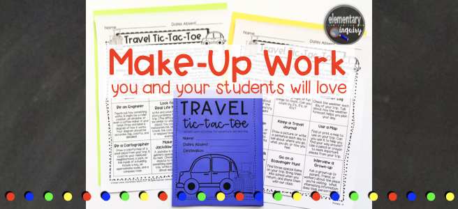 travel tic tac toe game make up work you and your students will love